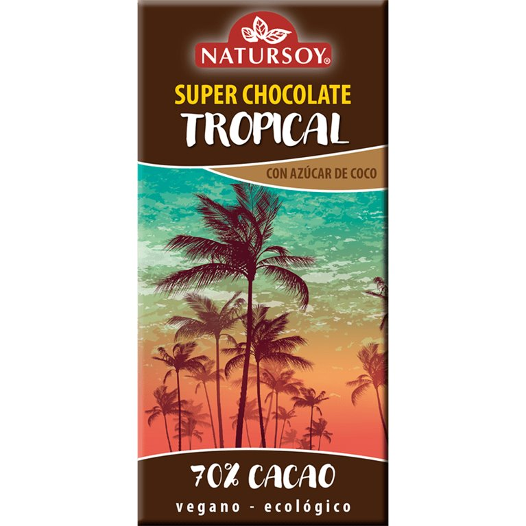 Super Chocolate Tropical 70% Cacao Bio 100g