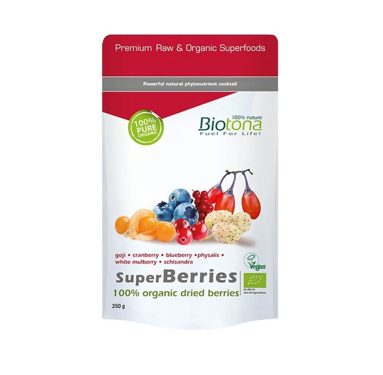 SuperBerries Raw, 200 gr