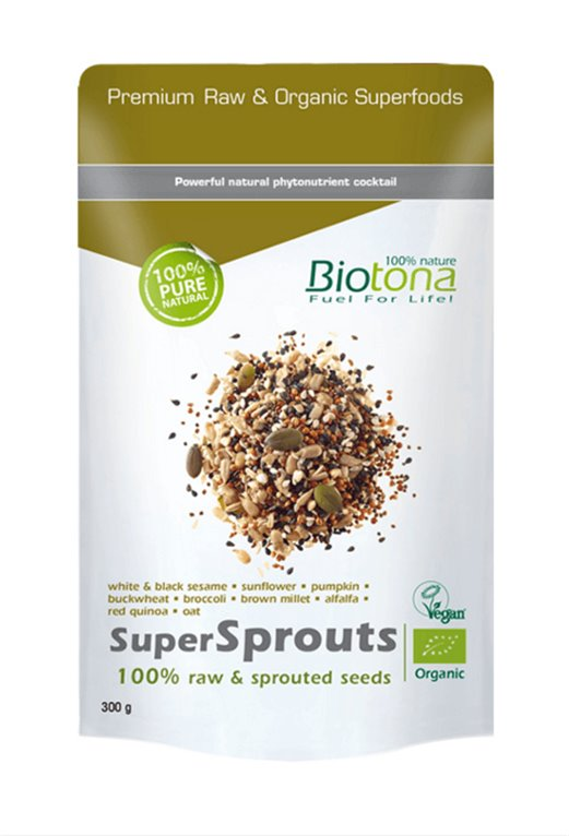 SuperSprouts seeds bio raw, 300 gr