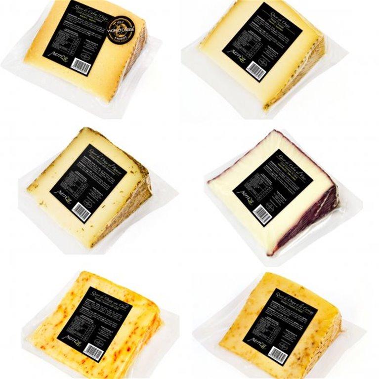 Surdido 6 cuñas de quesos artesanos, 1 ud