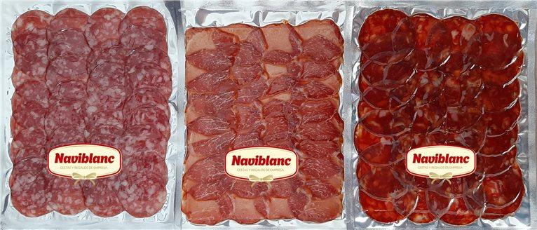 Surtido Lomo Ibérico Cebo+Salchichón ibérico Bellota+Chorizo Ibérico Bellota (1,5 Kg cortado) GUIJUELO
