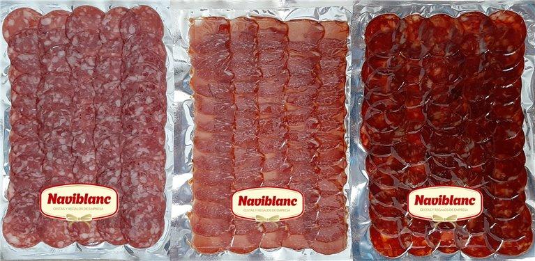 Surtido Lomo Ibérico Cebo+Salchichón ibérico Bellota+Chorizo Ibérico Bellota (3 Kgs cortado) GUIJUELO