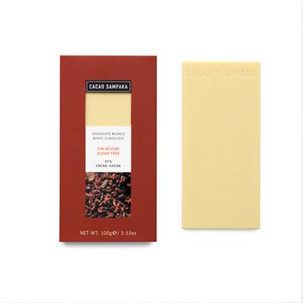 Tableta chocolate blanco sin azúcar 31%