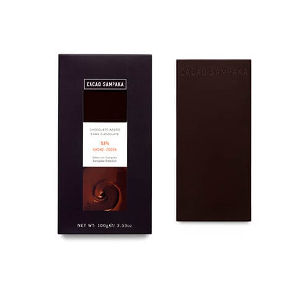 Tableta chocolate negro 53%
