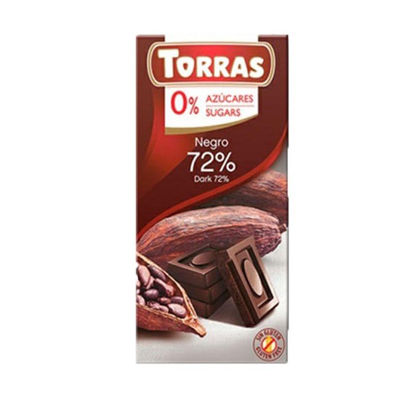 DARK CHOCOLATE BAR 72% COCOA