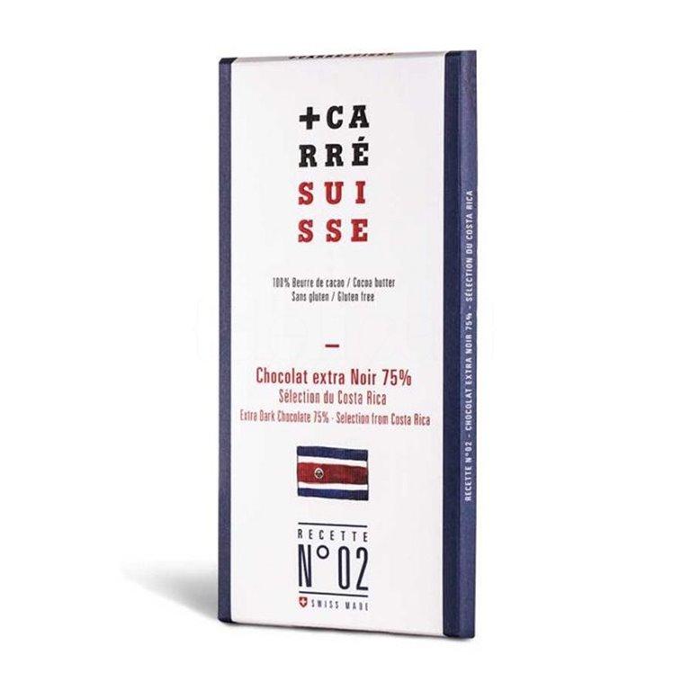 Tableta Chocolate Negro 75% Costa Rica 100gr. Carré Suisse. 10un., 1 ud