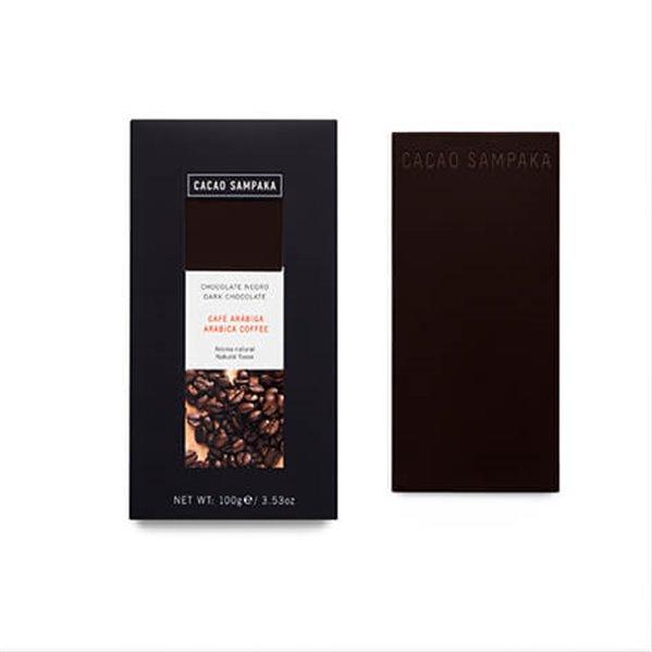 Tableta chocolate negro con café arábiga