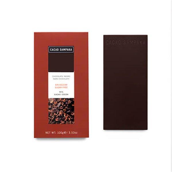 Tableta chocolate negro sin azúcar 55%