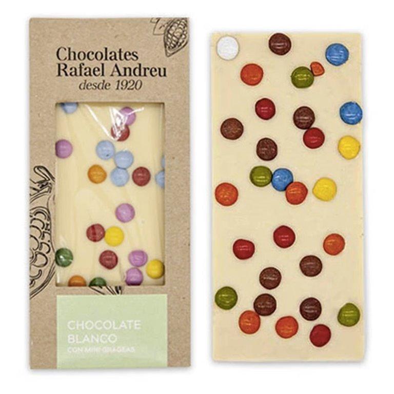 Tableta de chocolate blanco con Lacasitos
