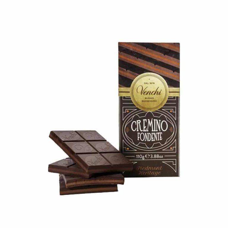 Tableta de chocolate Cremino Fondente 1878 110g Venchi