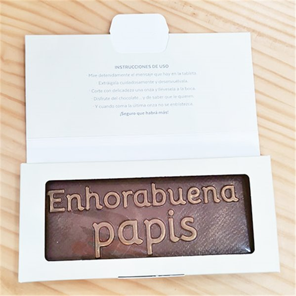 "Tableta de chocolate ""Enhorabuena papis"""