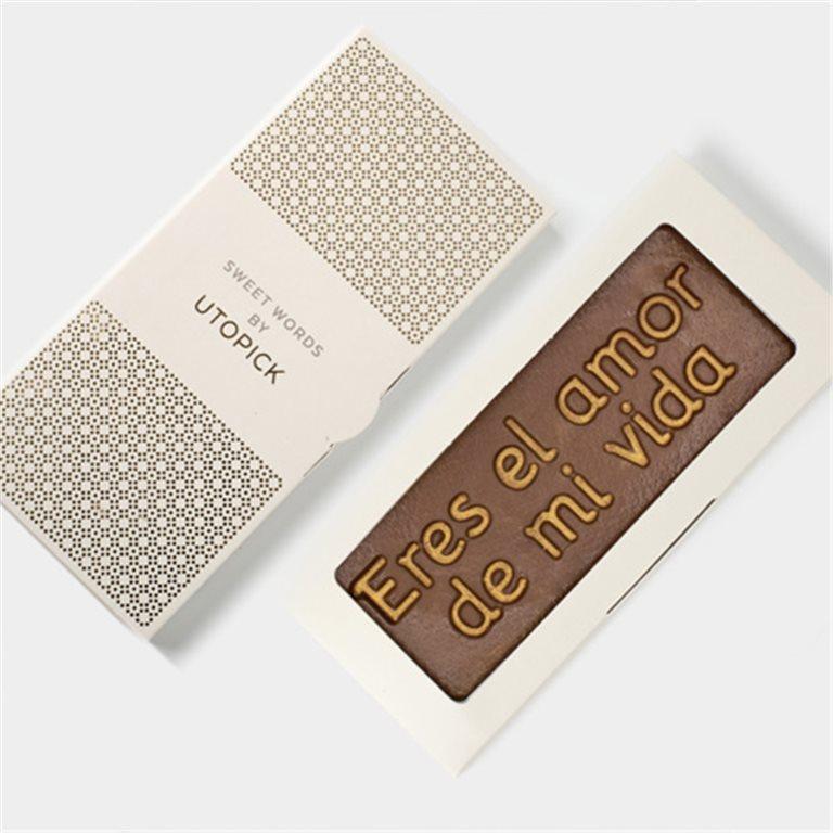"""Tableta de chocolate """"Eres el amor de mi vida"""""""