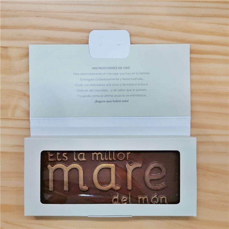 """Tableta de chocolate """"Ets la millor mare del món"""""""