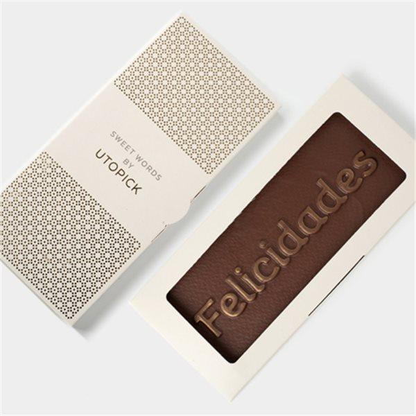 "Tableta de chocolate ""Felicidades"""