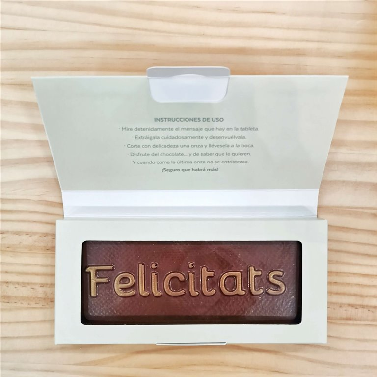 "Tableta de chocolate ""Felicitats"""