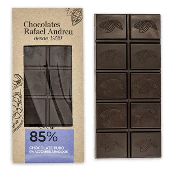 Tableta de chocolate negro al 85% sin azúcar
