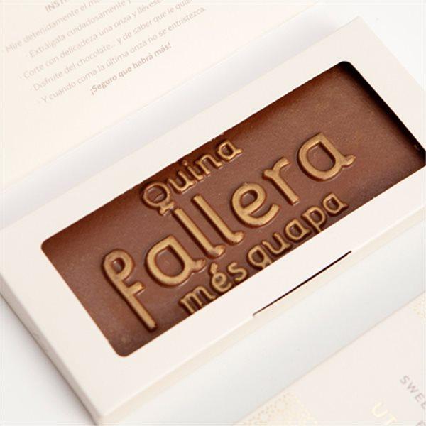 """Tableta de chocolate """"Quina fallera més guapa"""""""