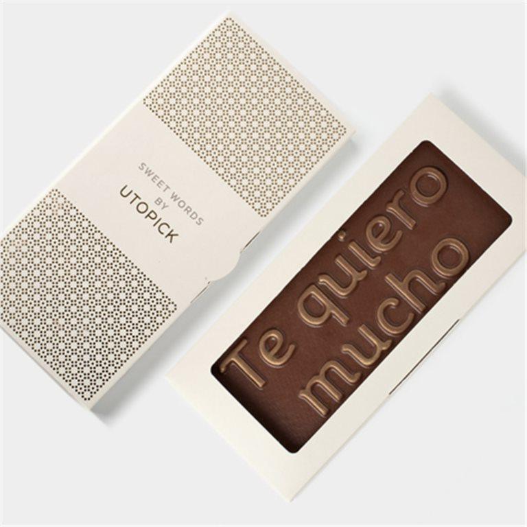 """Tableta de chocolate """"Te quiero mucho"""""""