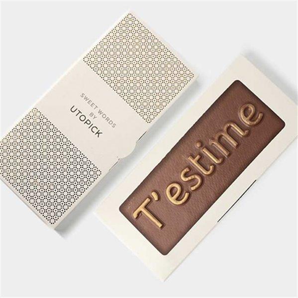 """Tableta de chocolate """"T'estime"""""""