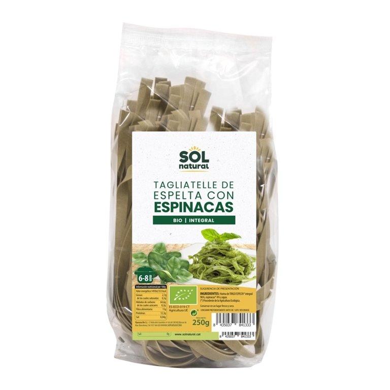 Tagliatelle de Espelta Integral y Espinacas Bio 250g