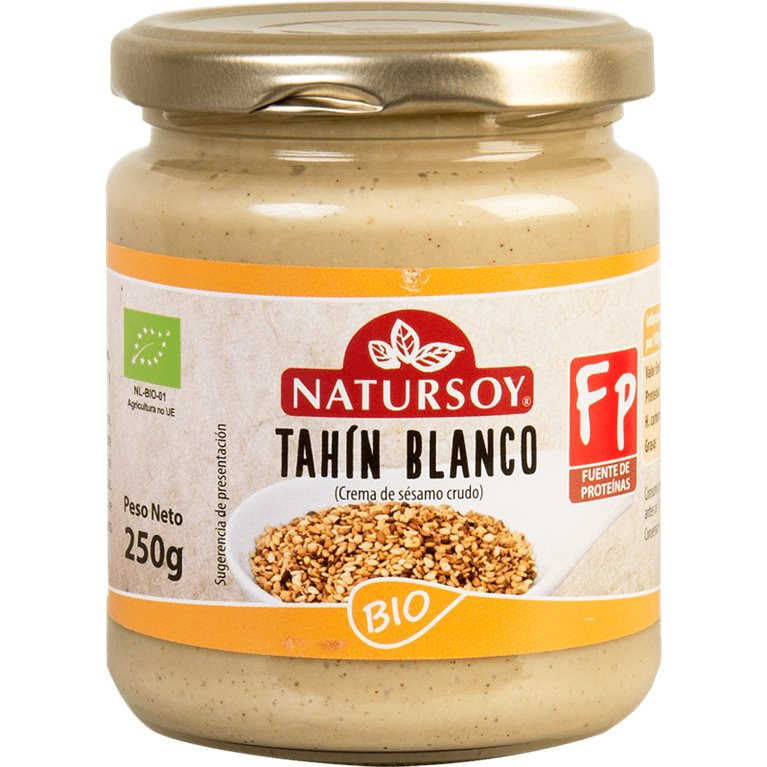 Tahin Blanco (Crema de Sésamo Crudo) Bio 500g, 1 ud