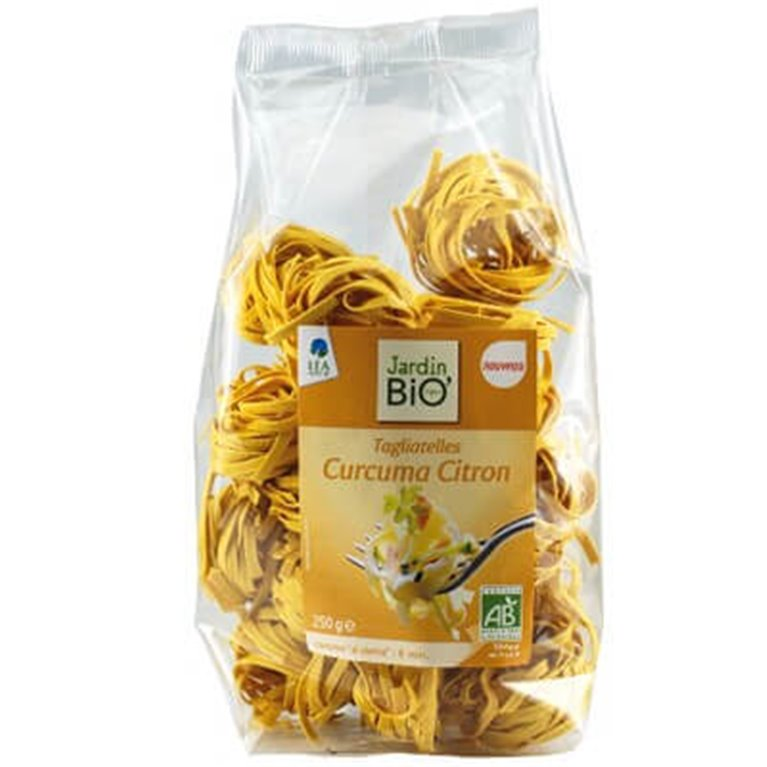 Tallarines de trigo con cúrcuma y limón, 250 gr