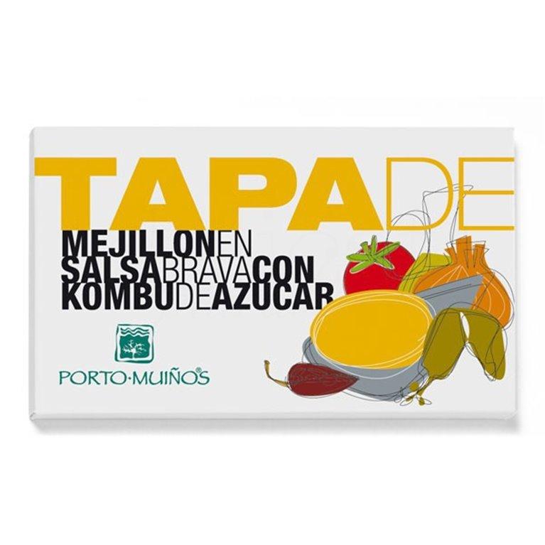 Tapa de mejillón en Salsa brava con Kombu de Azúcar RR125. Porto-Muiños. 20un., 1 ud