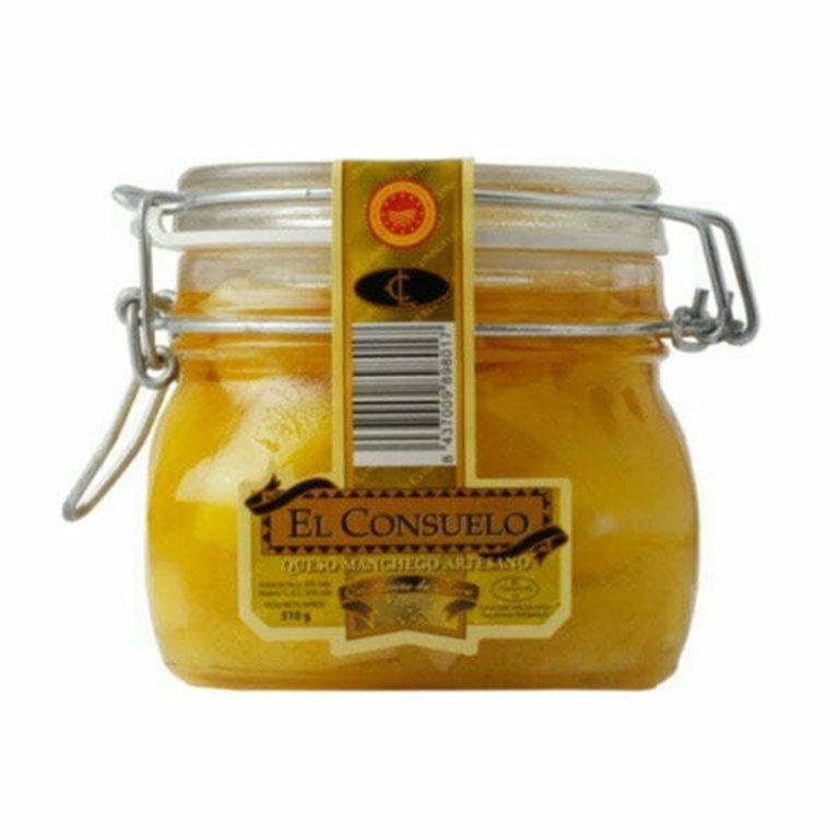 Tarro con aceite El Consuelo pequeño (500 gramos aprox.)