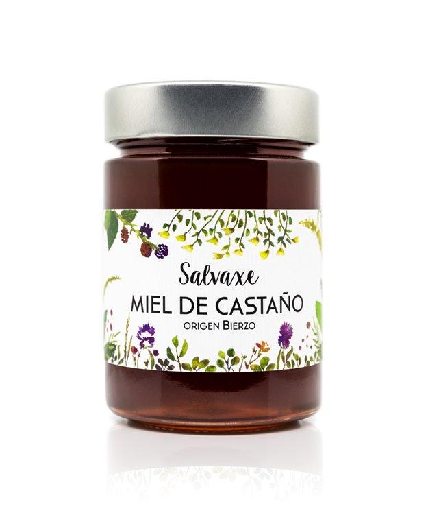 Tarro de Miel ecológica de Castaño 485 gr SALVAXE