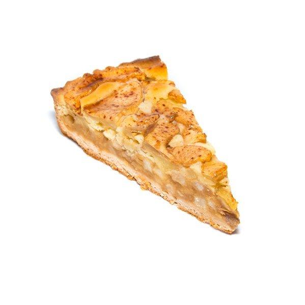 Tarta de manzana, canela y pasas