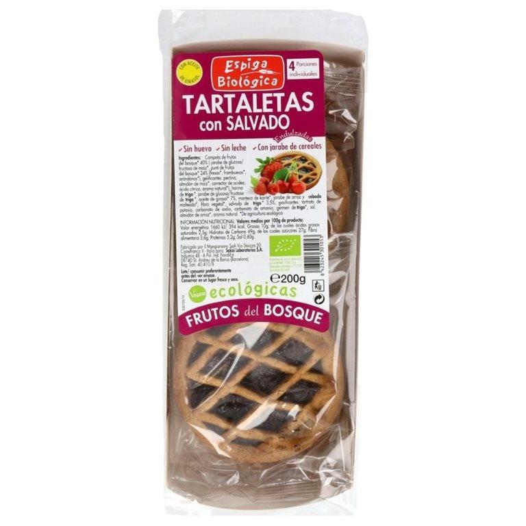 Tartaletas con Salvado Frutos del Bosque Bio 200g