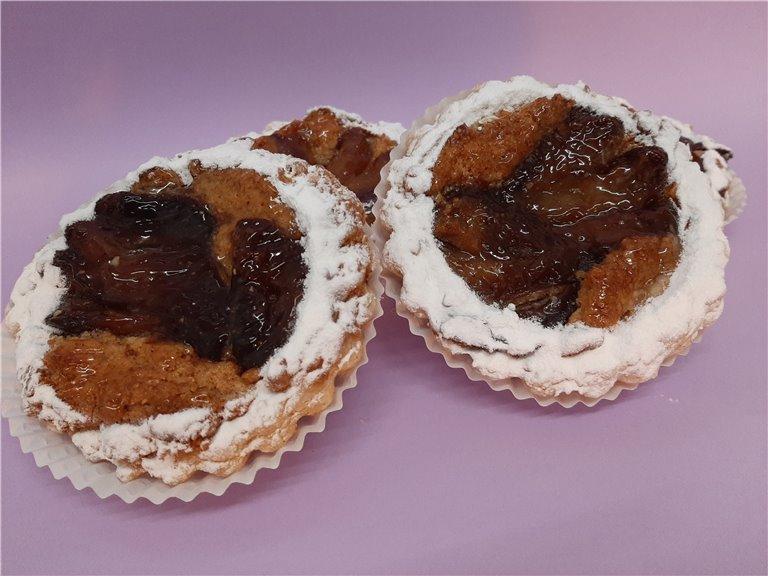 Tartaletas de almendra y pera