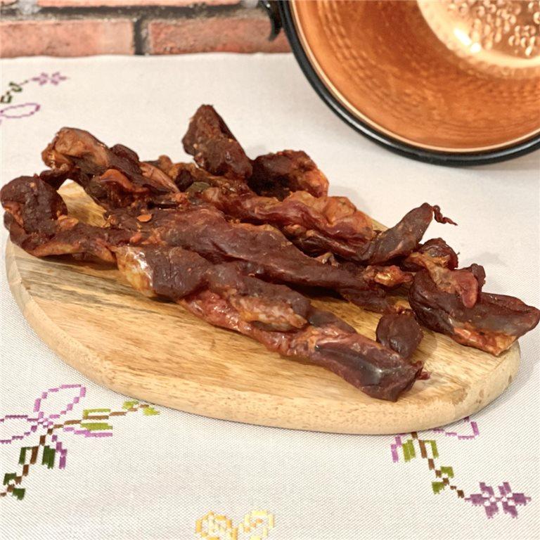 Marinated spicy beef tasajo