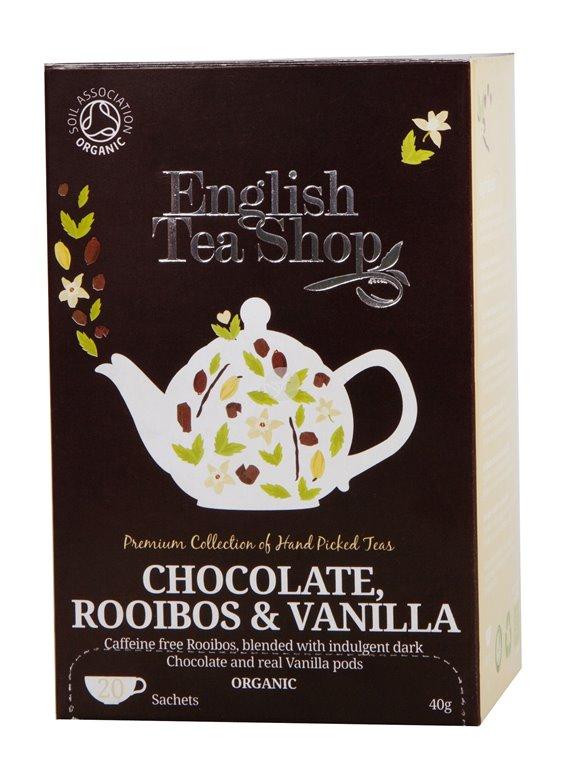 Té Chocolate Rooibos y Vainilla Bio 40g (20tb)