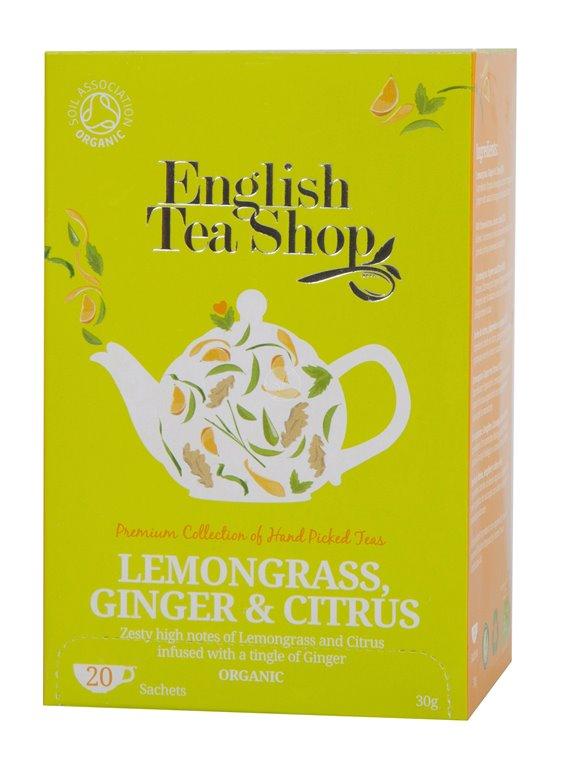 Té Lemongrass Jengibre Cítricos Bio 40g (20tb)