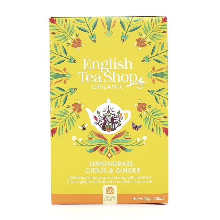 Té Limón, Jengibre y Cítricos 40gr. English Tea Shop. 6un., 1 ud