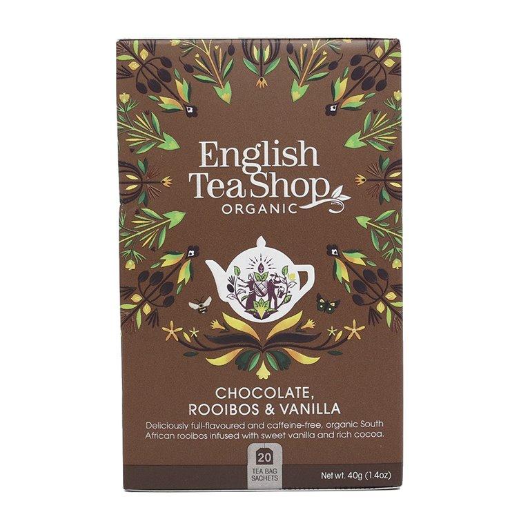 Té Rooibos con Chocolate y Vainilla BIO  40gr. English Tea Shop. 6un., 1 ud