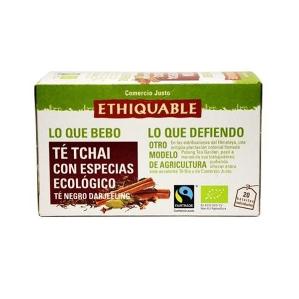 Té Tchai con Especias Bio Fairtrade 20tb