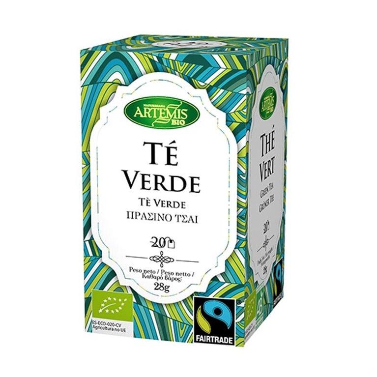 Organic and Fair Trade Green Tea Artemis 20 filters