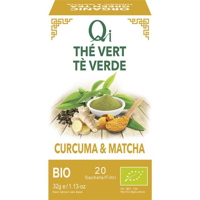 Té Verde con Cúrcuma y Matcha Bio 32g (20tb), 1 ud
