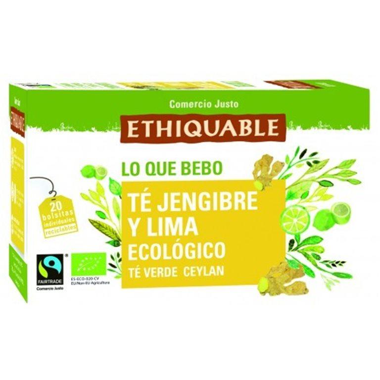 Té Verde con Jengibre y Lima Bio Fairtrade 20tb