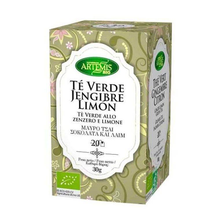 Té Verde Jengibre Limón BIO 20 bl - Artemis