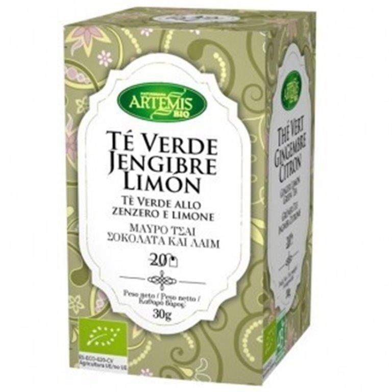 Té Verde Jengibre Limón Bio 30g (20tb)