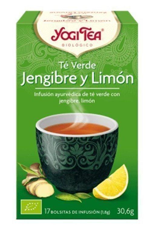Té verde jengibre y limón, 30 gr