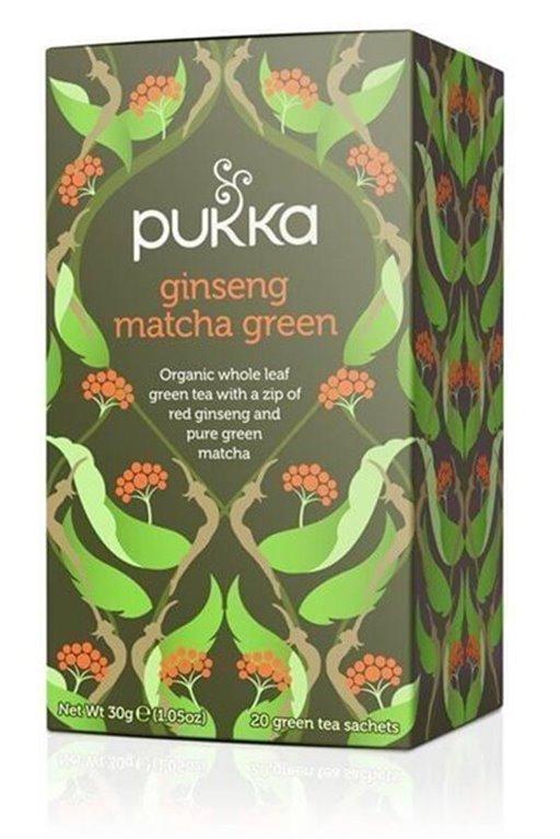 Té verde matcha con ginseng, 30 gr
