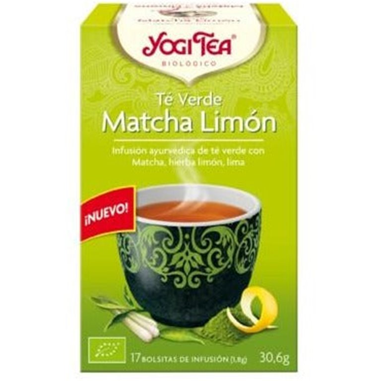Té Verde Matcha Limón Bio 30,6g (17tb), 1 ud