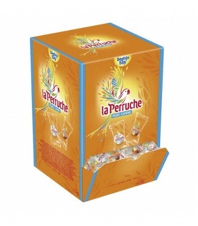 Terrones Azúcar Individuales Blancos y Morenos Caja 2,5kg. La Perruche. 4un.
