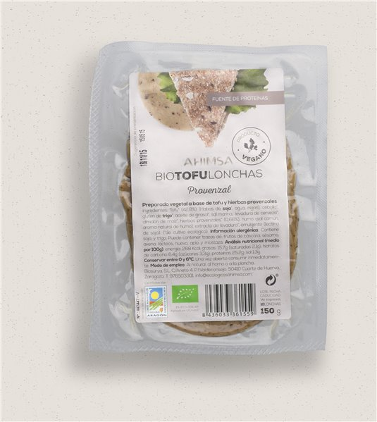 Tofu Lonchas Provenzal Bio Ahimsa, 150 gr