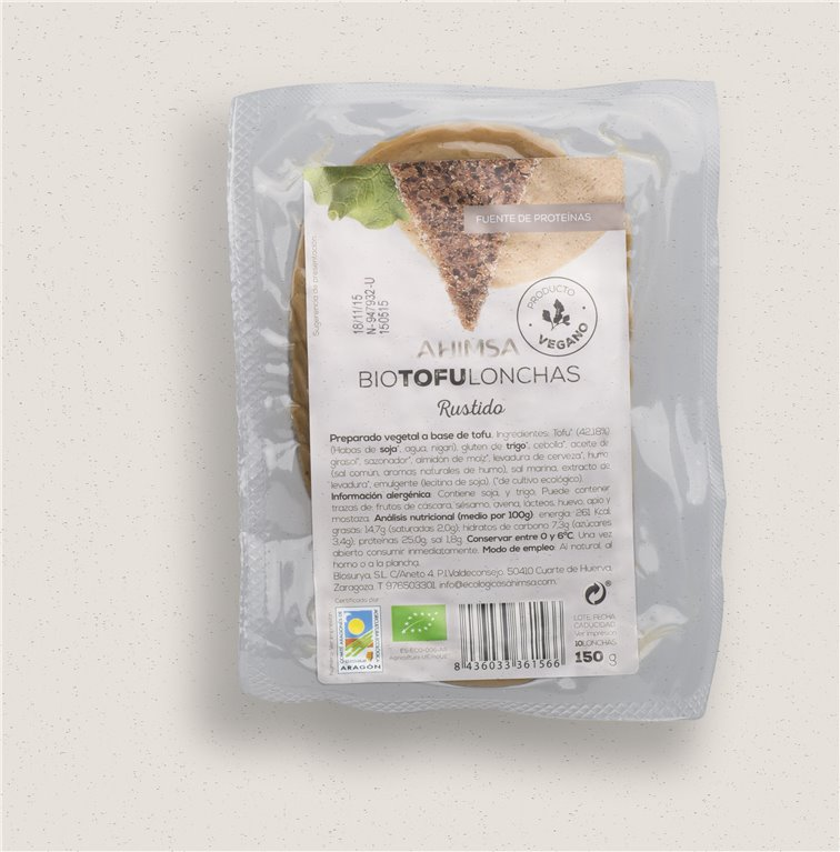 Tofu Lonchas Rustido Bio Ahimsa, 150 gr