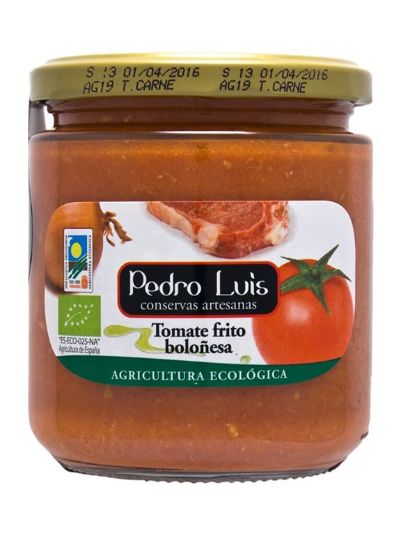 Tomate Ecológico Frito Boloñesa, 370 gr